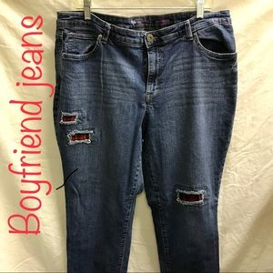 Style & Co  relaxed fit boyfriend jeans.